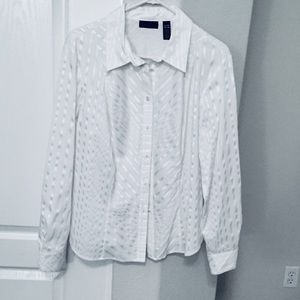 Apostrophe white stripped blouse